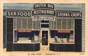 Oyster Bay Restaurant, Charleston, South Carolina, Early Postcard, Unused