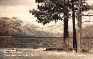RPPC Summit from Donner Lake, CA Tahoe Area Truckee 1941 Zan Vintage Postcard