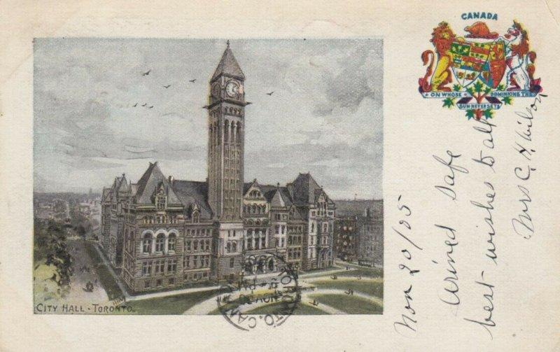 TORONTO , Ontario , Canada , 1905 ; City Hall