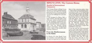 Kings Lynn The Customs House Charles II Statue Norfolk Postcard