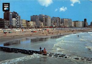 Belgium Blankenberge Beach and Promenade Postcard