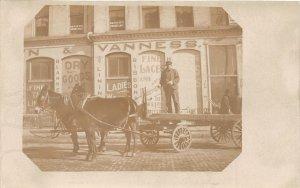 G45/ Napoleon Ohio RPPC Postcard c1910 Vanness Dry Goods Store Occupational