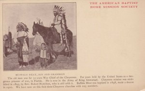 DARLINGTON , Oklahoma , 1900-1910s; Indian Mission ; Chief Buffalo Meat