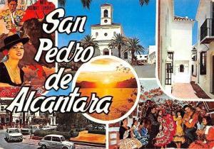 Spain San Pedro de Alcantara (Costa del Sol) Chiesa, Church Street Cars Voitures
