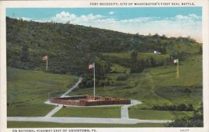 Pennsylvania Uniontown Fort Neccessity Site Of Washington's First Real B...
