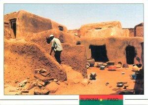 Burkina Faso habitation quartier le Dioulassoba postcard