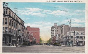 Main Street, Looking South, Drug Store/Pharmacy, HIGH POINT, NC,  PU-1934