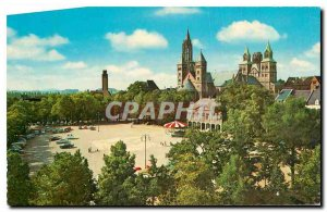 Modern Postcard Panorama Maastricht Vrijthof