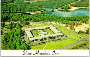 Vintage Georgia Postcard STONE MOUNTAIN INN Aerial Hotel View c1960s Unused