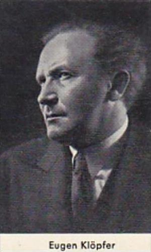Confreia Cigarette Card Film &  Stage Stars No 82 Eugen Kloepfer