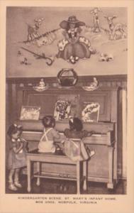 Virginia Norfolk Kindergarten Scene St Mary's Infant Home Artvue