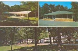 3Views, Blu-Vue Motel & Restaurant, North Of Mount Airy, North Carolina, 1940...