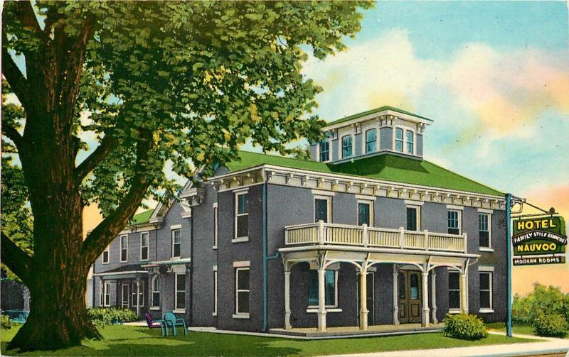 Hotel Nauvoo Illinois Il Historic Postcard