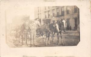 E54/ Occupational Real Photo RPPC Postcard c1910 Delivery Wagon Men 10