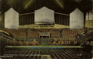 1918 Ocean Grove New Jersey Postcard: Largest Organ In The World, Maker Credited