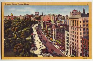 P234 JL 1930-45 postcard  birds eye tremont st boston mass