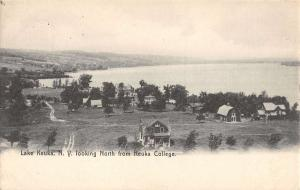 Lake Keuka New York College Birdseye View Antique Postcard K23225