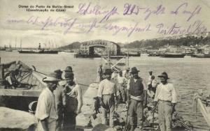 brazil, BAHIA, Obras do Porto, Construção do Cáes (1913) Mello & Filhos