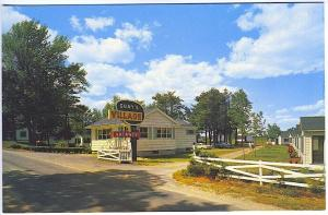 Old Orchard Beach ME Guay's Village Cottages Old Cars Postcard