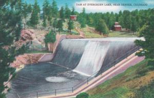 Colorado Dam At Evergren Lake Near Denver