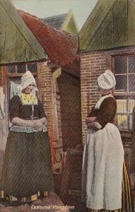 Women In Traditional Costume Volendam Netherlands