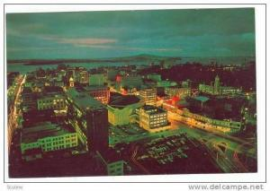New Zealand, 50-60s  City & Harbour at night, Auckland