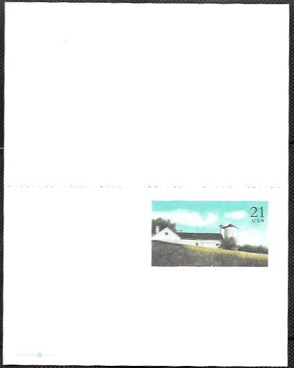 US UY43 Mint Reply Postcard.