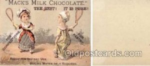 Mack's Milk Chocolate  --  approx size inches =  2.5 x 3.5 Unused