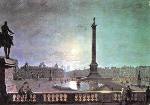 London Art Postcard, Trafalgar Square by Moonlight by Henry Pether GQ4