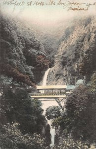 Waterfall at Kobe, Japan, Early Postcard, Used in 1907, sent to St. Louis, MO.