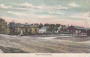 Maine Depot And Library  1914