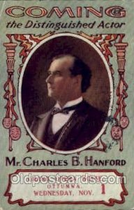 Mr. Charles B. Hanford Theater 1905 light crease left top corner and right to...