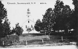 Greenfield New Hampshire~Covenant Congregational Church~1915 Real Photo~RPPC