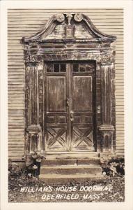 Massachusetts Deerfield Williams House Doorway Real Photo