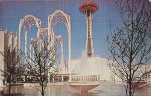WORLD FAIR SCIENCE CIVIC CENTER POSTCARD SEATTLE WASHINGTON