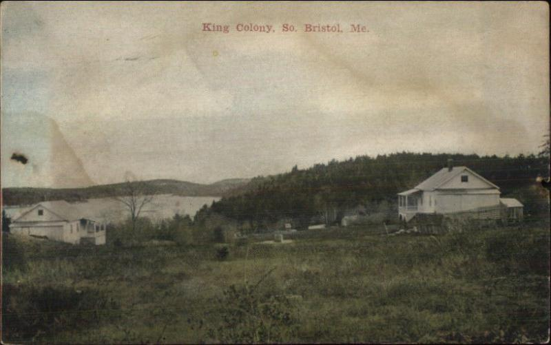 South Bristol ME King Colony c1910 Postcard