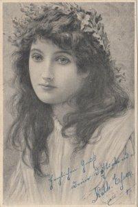 M.M.VIENNE : Closeup Female Head Portrait #3 , 1902