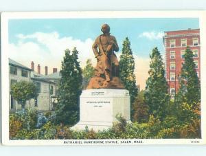 Unused W-Border MONUMENT SCENE Salem - Near Boston Massachusetts MA F2249