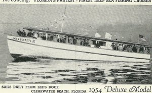 Deep Sea Fishing Boat MISS BUCKEYE III , CLEARWATER BEACH , Florida , 1950s