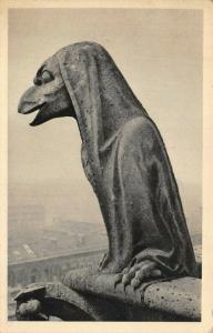 Vintage France Postcard, Notre Dame de Paris Chimere Gargoyle 16V