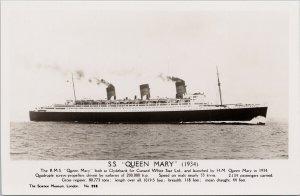 SS 'Queen Mary' Ship Unused Matthews Bradford England RPPC Postcard G92