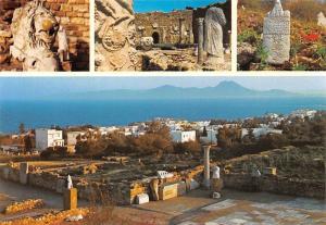 Tunisia Tunisie Carthage Ruines Puniques et Romaines Ruins Statues General view