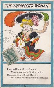 Humour The Overdressed Woman 1907