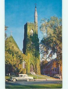 Unused Pre-1980 CHURCH SCENE Amherst Massachusetts MA hs7227