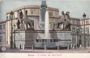 ROMA, Lazio, Italy, 1900-1910's; J Colossi Del Quirinale
