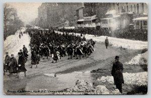 Washington DC~President Taft Inauguration Parade~Naval Reserves Band Snow~1909