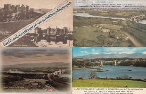 Llanfair Welsh Tongue Twister Wales Old Menai Straits 4x Postcard