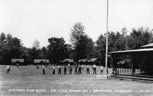 Brandon Vermont Lake Dunmore Atateka Real Photo Antique Postcard K95314