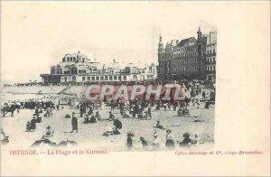 Old Postcard Ostend Beach and the Kursaal