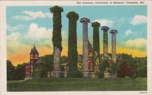 Missouri Columbia The Columns University Of Missouri Curteich